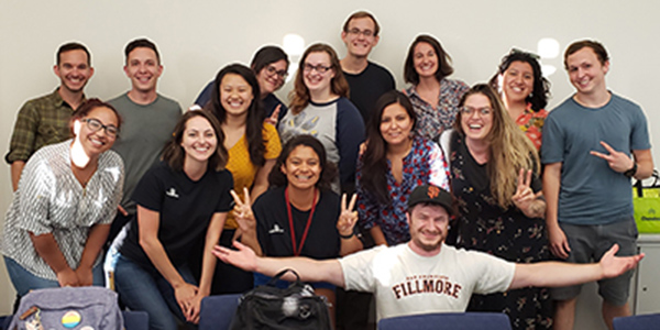 RadioBio started with 10 members and is now up to 20, including Quantitative and Systems Biology and Environmental Systems graduate students.